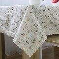 Algodão & Linho Pastoral Dandelion Impresso Borda Do Laço Toalha de Mesa Retangular Table Cover Pano de Tabela para o Casamento Venda Quente