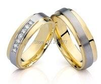 Доступный в европейском стиле cz обручальное пары обручальные кольца комплекты ювелирные изделия Анель de casamento