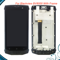 For Blackview BV8000 LCD Display + Touch Screen Assembly With Frame 100% Tested Replacement BV 8000 Free Shipping IN Stock