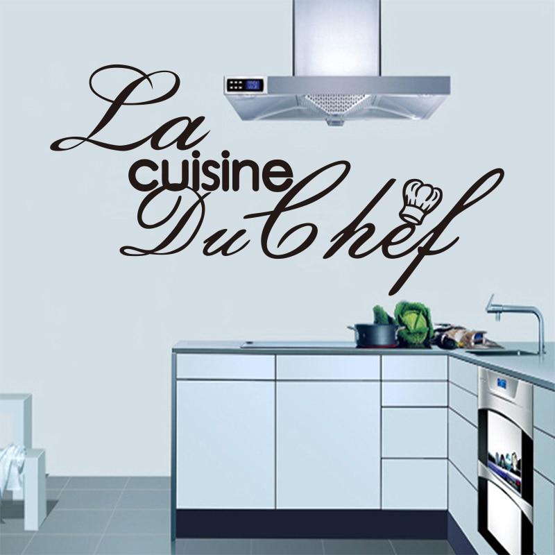 Aufkleber Französisch Küche Chef Vinyl Wandtattoos Aufkleber - Wohnkultur - Foto 4