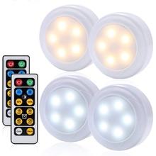 Sensor táctil regulable LED bajo armarios luces blanco cálido + blanco doble Color LED Puck luces cerrar armario cocina noche Luz