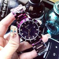 12 Diamond stone klok jurk match mode vrouwelijke horloge met golden steel horlogeband quartz horloge