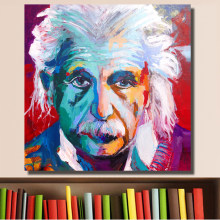 HDARTISAN Picture Albert Einstein Portrait Abstract Pop Art on Canvas Print or Living Room Picture Wall Art No Framed(China)