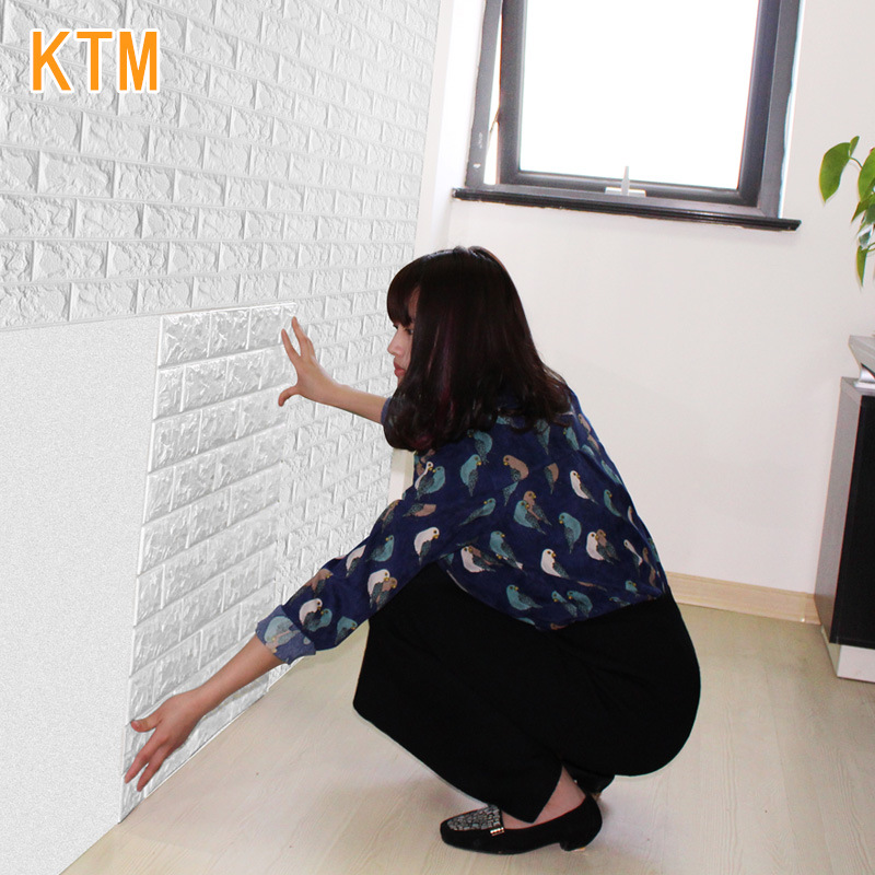 70x77x1cm Self-adhesive Creative Wall Brick Pattern Wallpaper 3d Stickers Living Room Bedroom Decorative Floor Tiles