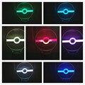 7 Colores Que Cambian la Lámpara 3D LED Luz de La Noche 3D Ilusión de Noche Lámpara de Mesa Lámpara de Escritorio Iluminación Para El Hogar Decoración de Vacaciones de Alimentación