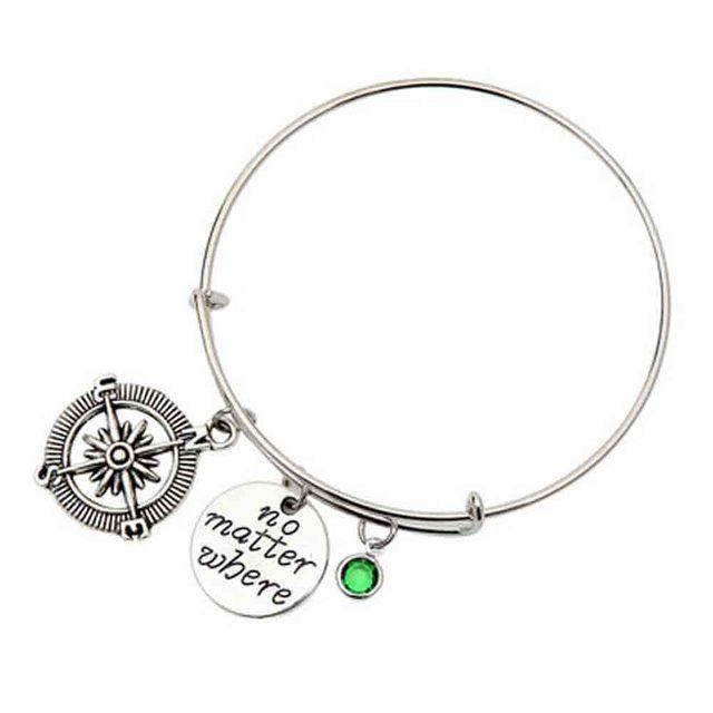 Neue Mode Egal Wo Kompass Armband Freund Freundin Geschenk Idee Valentinstag  Geschenk Für Sie Freundschaft