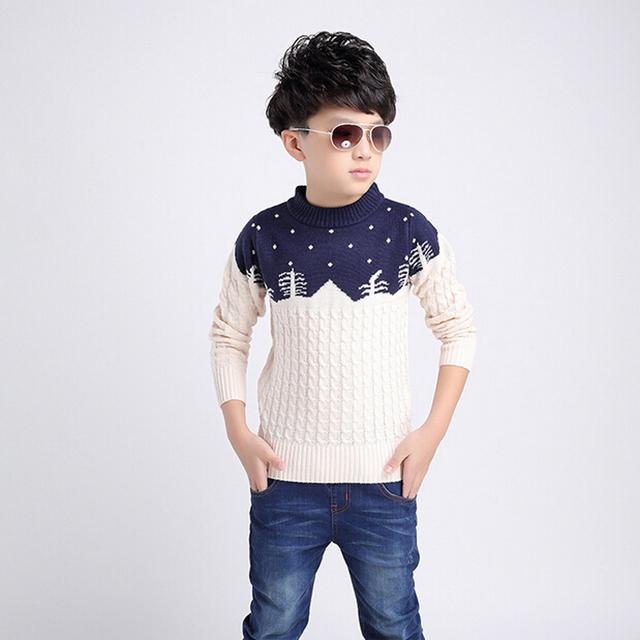 Marca del muchacho otoño ropa impreso suéter suéter de los niños niño grande chico de dibujos animados de algodón y de lana suéter suéter de los niños