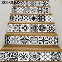 ZGTGLAD 1 Set Folk Custom Style Stair Wall Stickers Beautiful Photo Mural PVC Decal Home Room DIY Decoration