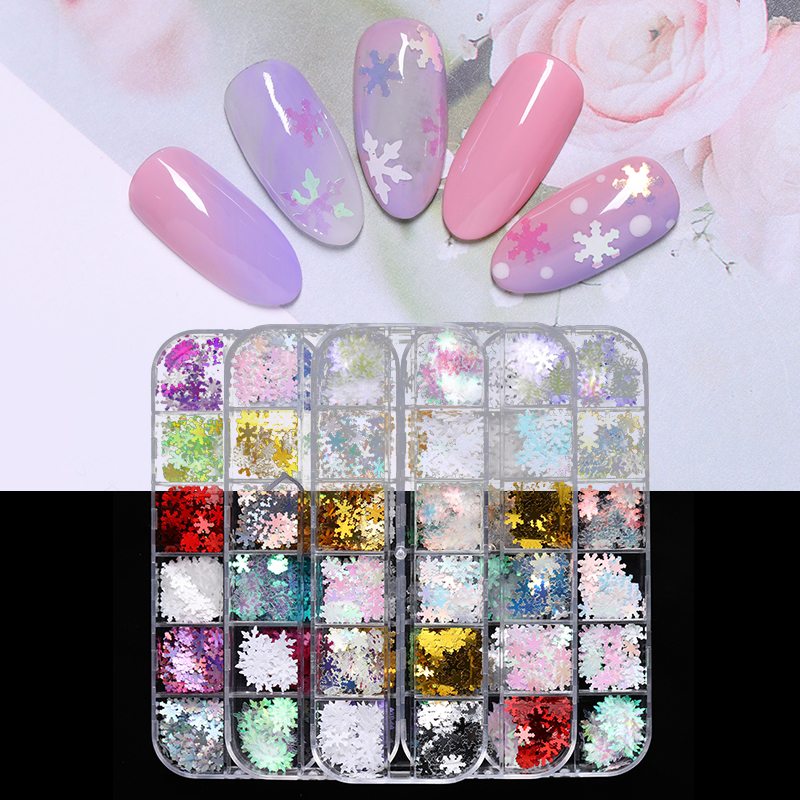 grids 3d nail art sequins colorful