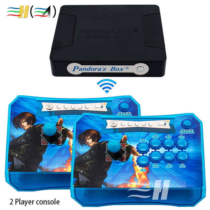 Pandora Box 4S plus Wireless Arcade Sticks Controller Built 815 in 1 Games Support XBOX360 PS3 PC Joystick Arcade Control Panel pandora s box arcade joystick for ps3 controller computer game arcade sticks new street fighters joystick consoles