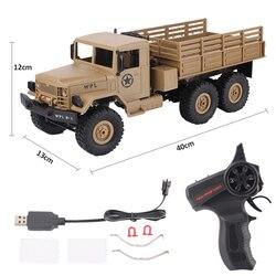 WPL 1:16 Ferngesteuerten Spielzeug RC Military Truck Crawler Off Road Auto 4WD 2,4G Elektrische Auto Für kind Maschine Auf die Control Panel