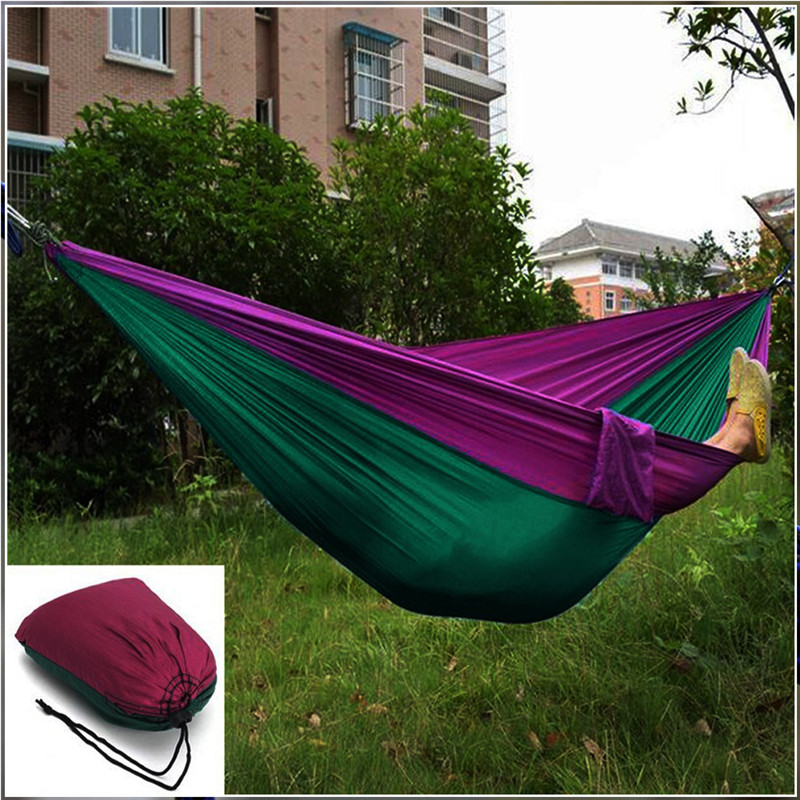 Portable Outdoor Garden Hammock Hang Travel Rest Camping Swing Parachute Forest Home Yard sunlight with bag