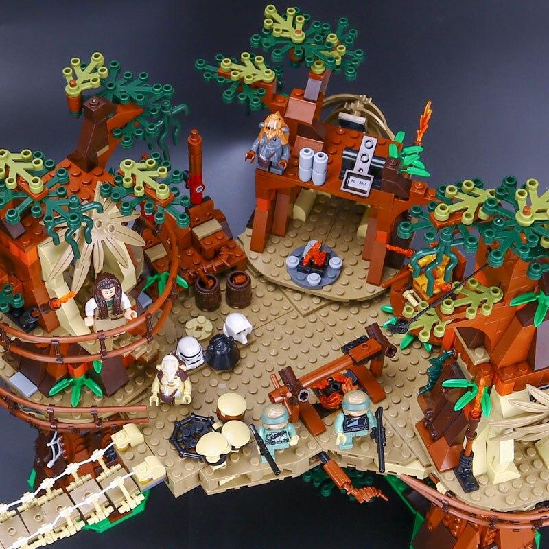 05047 Star plan serii Ewok Village Juguete Para Construir klocki klocki zabawki kompatybilne z 10236 prezenty w Klocki od Zabawki i hobby na  Grupa 3