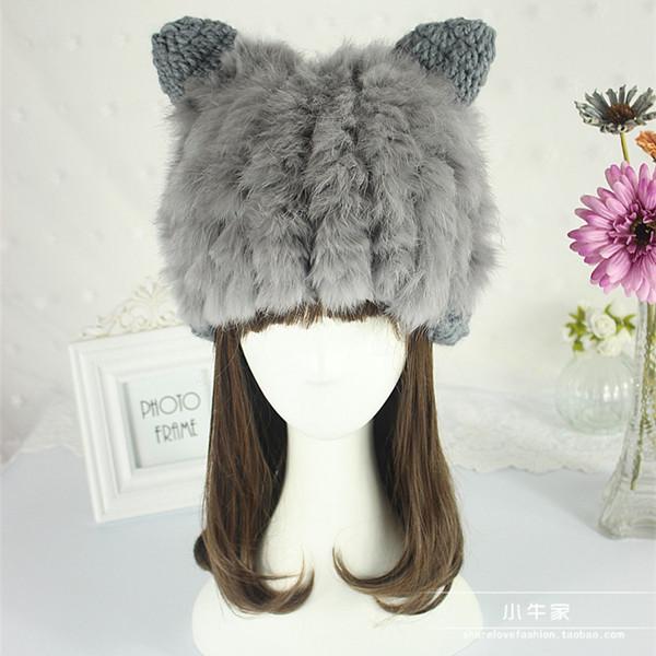 Chapéu feminino inverno pai filho cap coelho chapéu chapéu de pele cap chapéu protetor de ouvido bonito quente capautumn de criança e inverno