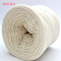 250g Pc White Non Bleached Original Ecology Healthy Cotton Knitted Yarn Baby Natural Soft Yarn For