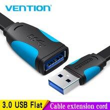 Vention USB2.0 3.0 연장 케이블 남성 여성 Extender 케이블 USB3.0 케이블 확장 노트북 PC USB 연장 케이블 0.5M 3M