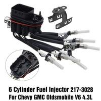 4.3L 6 Cylinder Fuel Injector Kit For Chevy GMC For Oldsmobile V6 217 3028 FJ503 16 9706