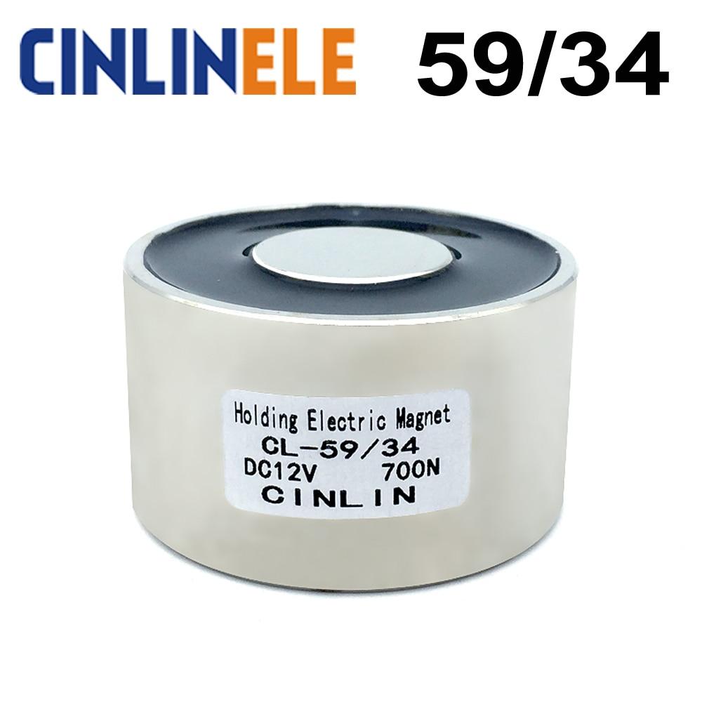 CL-P 59/34 Holding Electric Magnet Lifting 70KG/154lbs/700N Solenoid Sucker Electromagnet DC 6V 12V 24V Non-standard custom