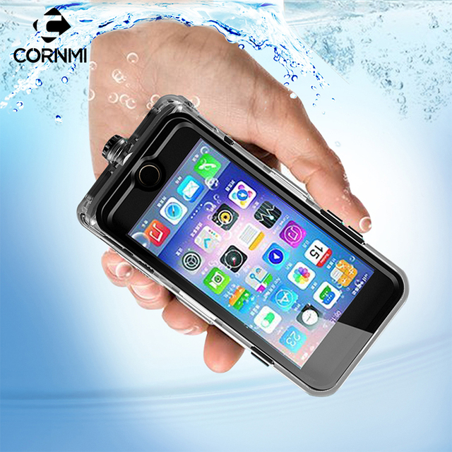 separation shoes 743c5 8211a US $18.22 45% OFF|Waterproof Case For iPhone 8 Plus Cover Full Coverage 360  Degree 5.5 inch Protective Housing Holder PC+TPE+Silicone Shell CORNMI-in  ...