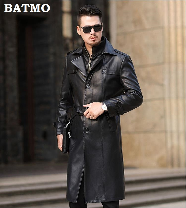 HTB1l6PjelWD3KVjSZKPq6yp7FXap Batmo 2019 new arrival autumn&winter real Leather thicked trench coat men,Leather jacket men,plus-size S-5XL