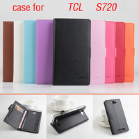 For TCL S720 S720T Case 5.5 inch Book Style Magnetic Flip Leather Case Cover for TCL S720 Wallet with Stand & Card Slots
