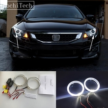 HochiTech Cree LED Chip Light Guide Angel Eyes Kit White Halo Ring day light with Dimmer Fuction for Honda Accord coupe 2008-11'(China)