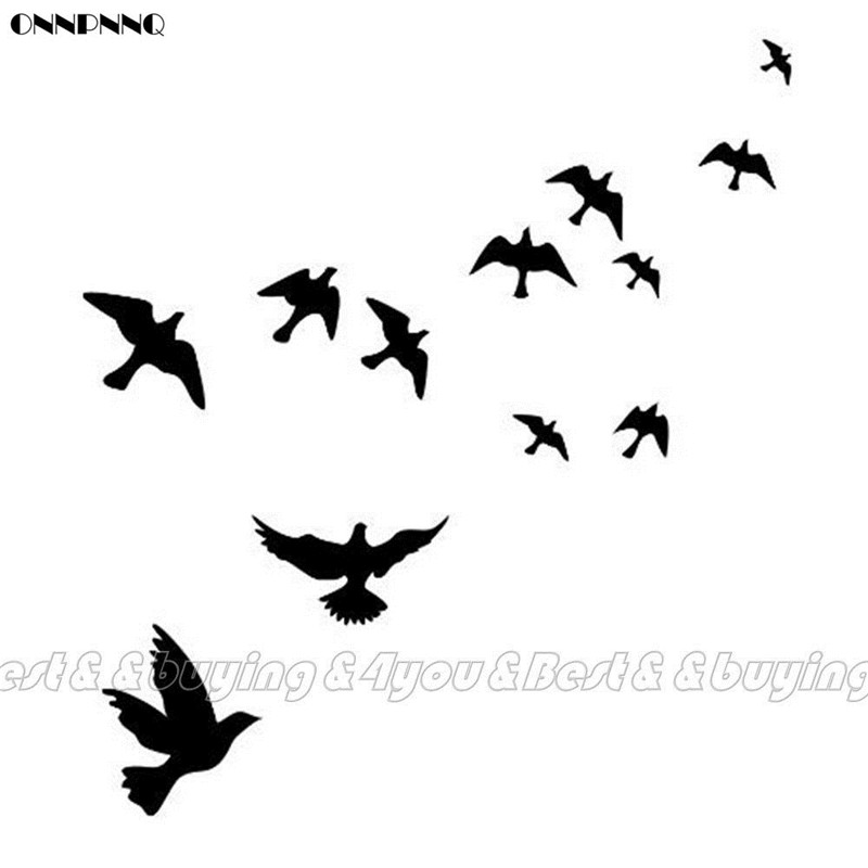ONNPNNQ Flying Bird DIY Removable Art Vinyl Wall Sticker