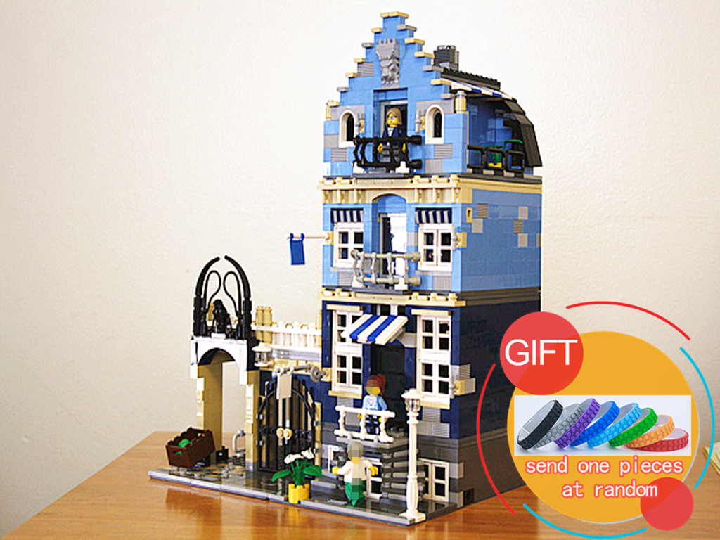 15007 1275Pcs Factory City Street European Market Model Building Block Set Kits Miniblock Compatible with 10190 Toys lepin lepin 22001 pirate ship imperial warships model building block briks toys gift 1717pcs compatible legoed 10210
