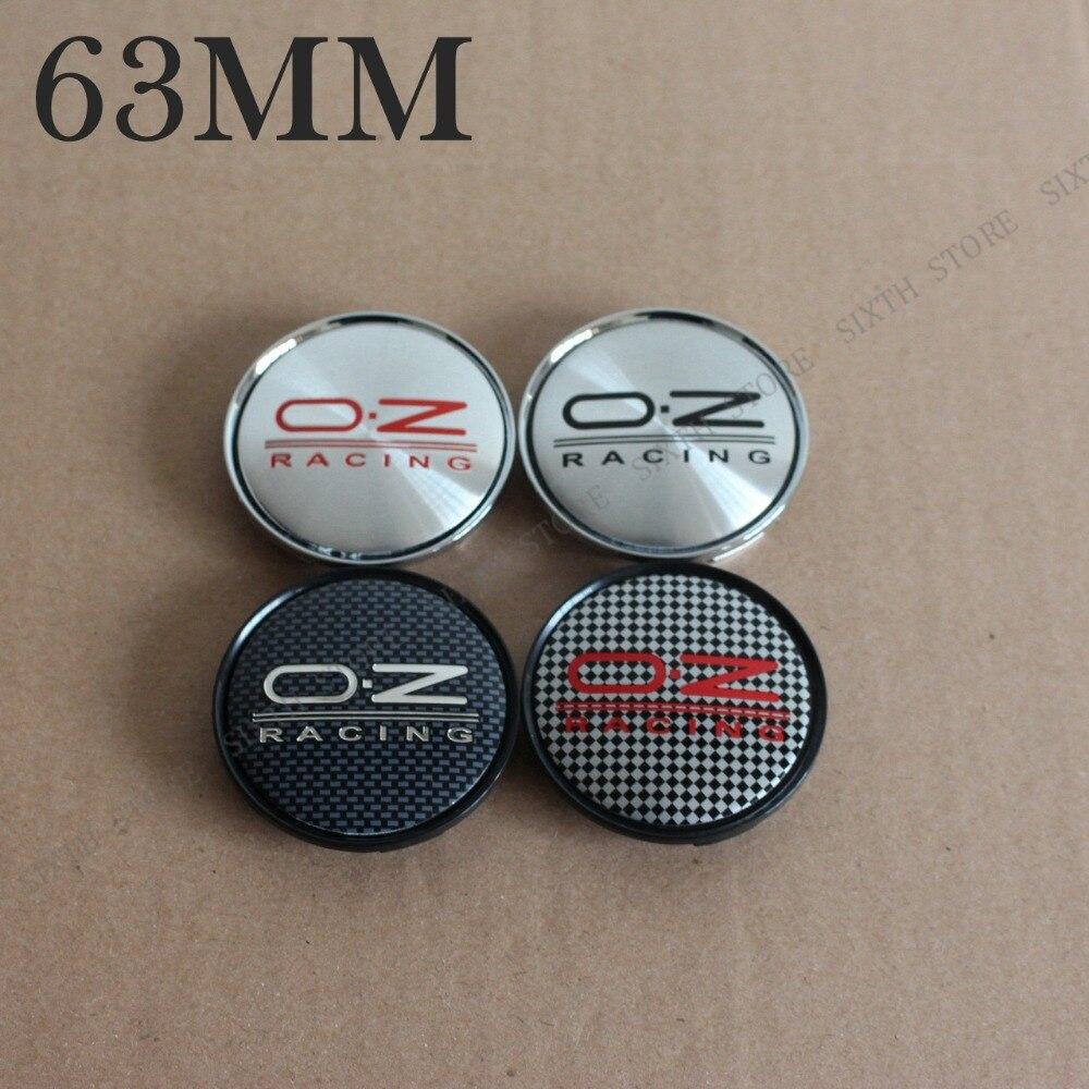 3D Stickers 4 pcs Logo Imitation Center Cap Wheel Trims 58 mm