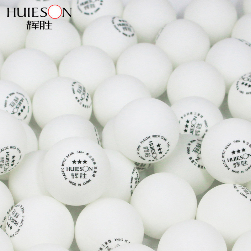 Huieson 50Pcs/Bag ABS Plastic Poly Table Tennis Balls Ping Pong Balls New Material Table Training Balls 40+mm 3 Star