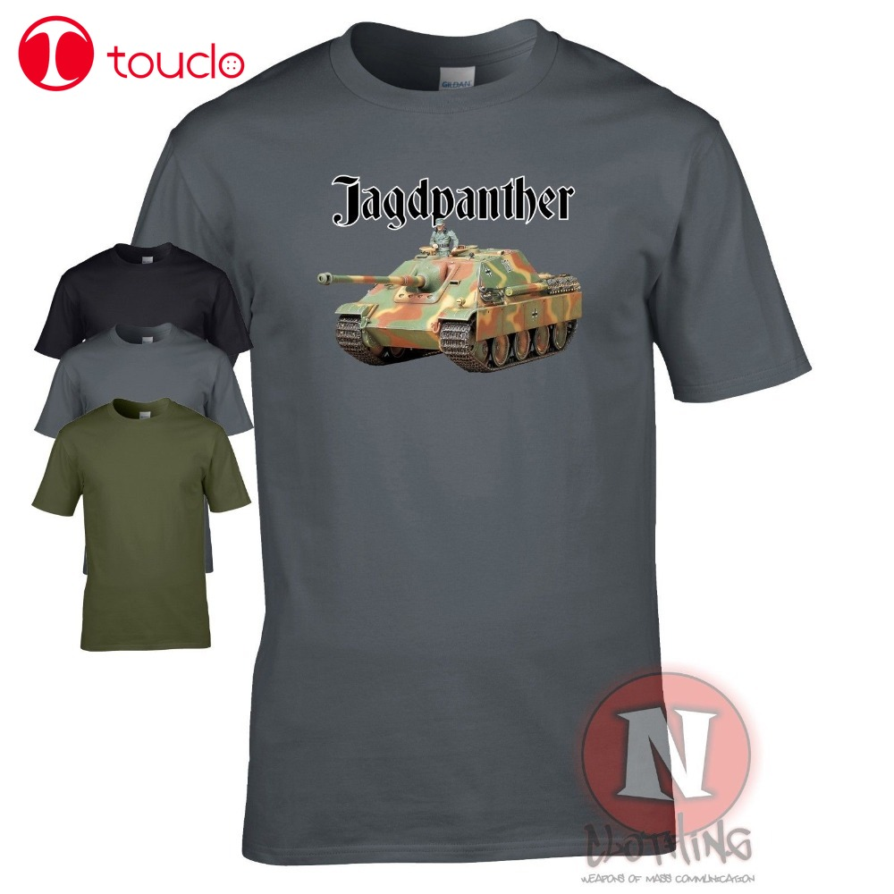 2019 New Jagdpanther Tank Destroyer Ww2 German Military Armour T-Shirt World Of War Tanks Cool T Shirts Sweater image