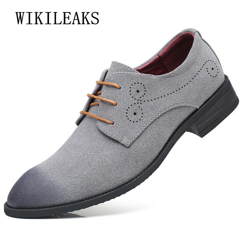 100% Wahr 2019 Ochsen Geschnitzt Männer Schuhe Wildleder Leder Kleid Schuhe Männer Hochzeit Schuhe Zapatos Hombre Casual Sapato Masculino Chaussure Homme
