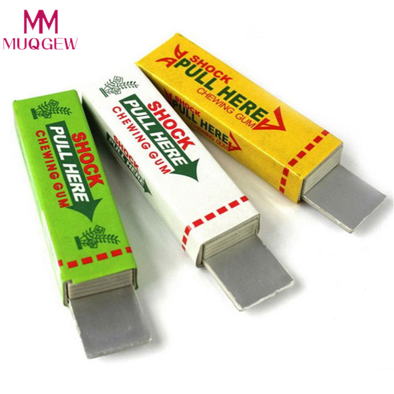 Safety Trick Joke Toy Electric Shock Shocking Funny Pull Head Chewing Gum Gags & Practical Jokes Novelty Items Drop Shipping