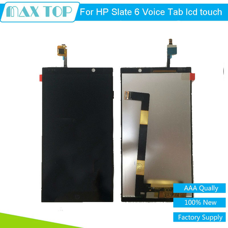 6.0 For HP slate 6 Voice Tab Slate6 LCD Display Touch Screen Digitizer Assembly Black Color Replacement Mobile Phone LCD