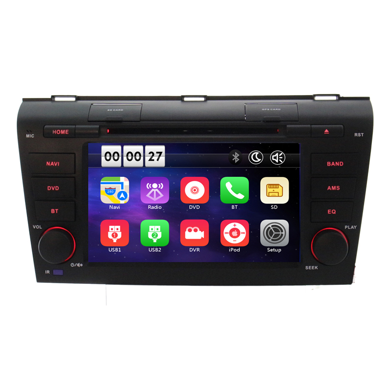New Wince 8.0 Car DVD Player For <font><b>Mazda</b></font> <font><b>3</b></font> 2004 2005 2006 <font><b>2007</b></font> 2008 2009 in GPS Navigation Map <font><b>Radio</b></font> Video audio RDS Ipod image