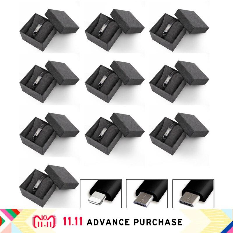 10 pièces de données de câble usb Chargeur de ligne pour iphone recharge iphone 5 huawei 5 S 8 xiaomi plus x xs max oppo mi 8 p20 adaptateur pro typec