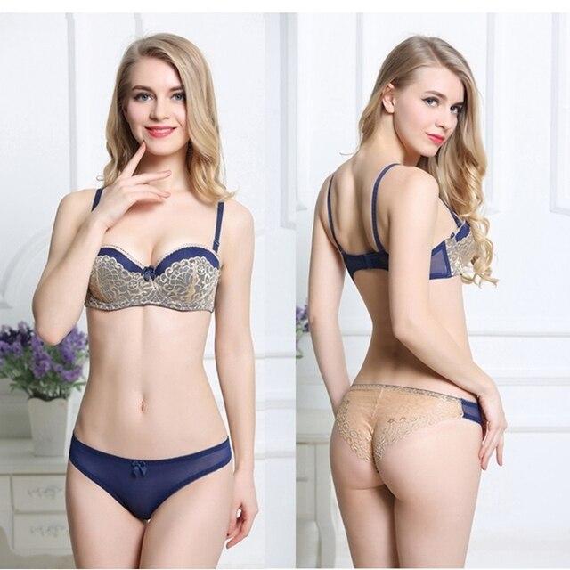b0db594521f56 Meia xícara de sutiã sexy conjuntos para as mulheres plus size rendas  conjunto de lingerie preto