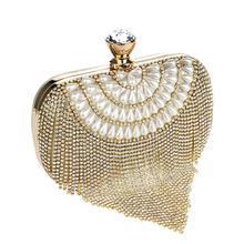 CHAUDE bourse D'embrayage sac de soirée épaule sacs à main gland diamants bourse sac perlé sac de soirée