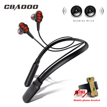 CBAOOO B800 Bluetooth Headphone Wireless Earphone Bluetooth Headset Sport Neckband with Microphone for android iphone xiaomi fatmoon x19c bluetooth earphone earhook wireless headset in ear bluetooth headphone handsfree sport microphone for xiaomi iphone