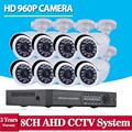 NiNiVision 8CH CCTV Camera System AHD 960P 1.3MP HD Camera HDMI 1080P 8 Channel DVR NVR for video security surveillance system