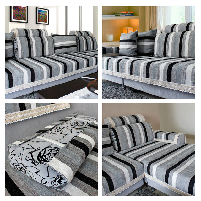 Cotton Linen Fabric Sofa Towel Sectional Sofa Cover Slip Resistant  Single Seat Double Seat