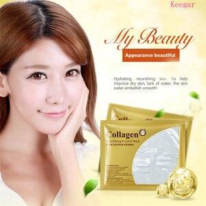 Image 2 - 24K Gold Kollagen Gesichts Blatt Maske Öl Steuer Mitesser Entferner Gesichts Maske Feuchtigkeits Erhellen Hautpflege Koreanische Kosmetik