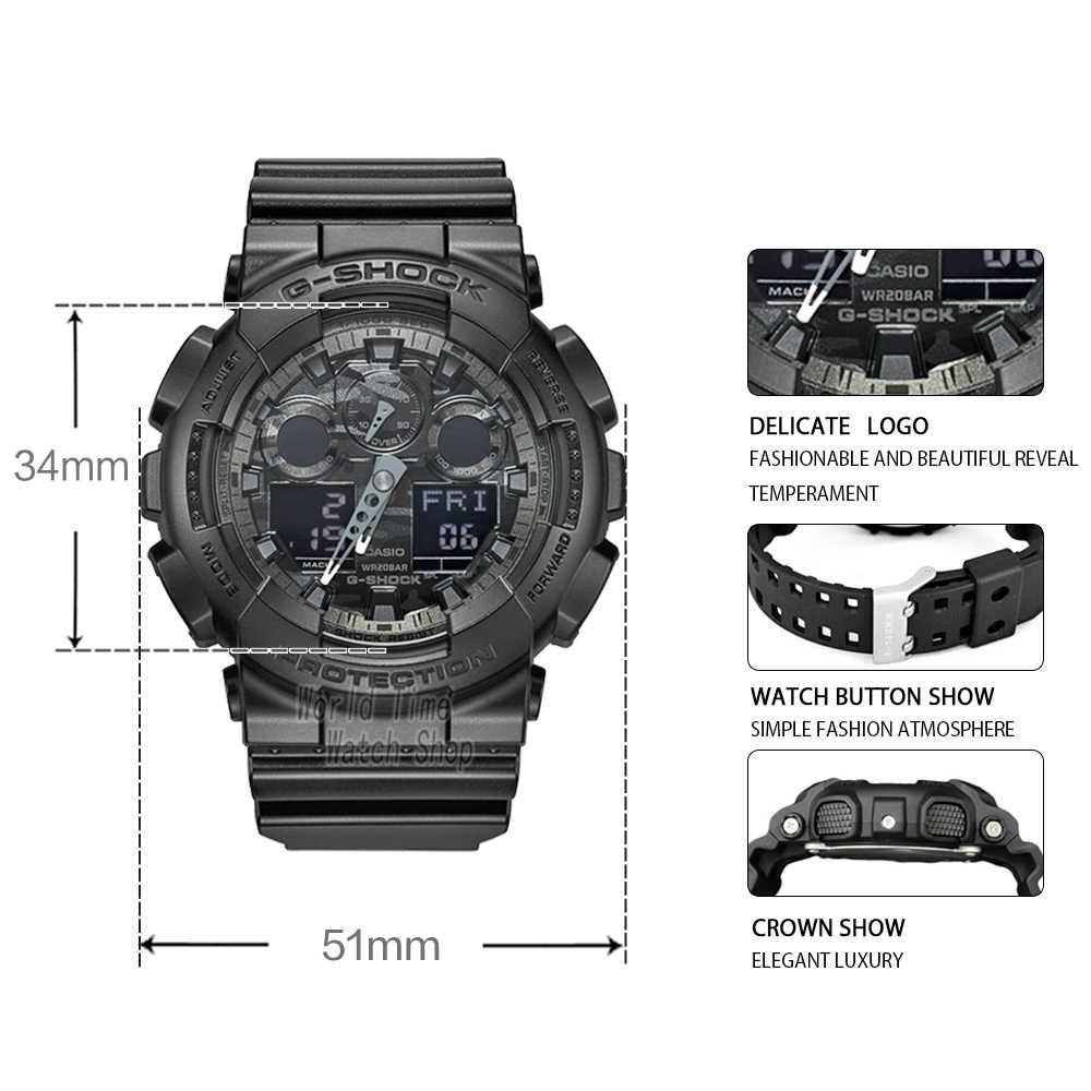 ... Часы Casio G-SHOCK Мужские кварцевые спортивные часы модные камуфляжные  ремешок из смолы g shock ... cd04ac1e5f4