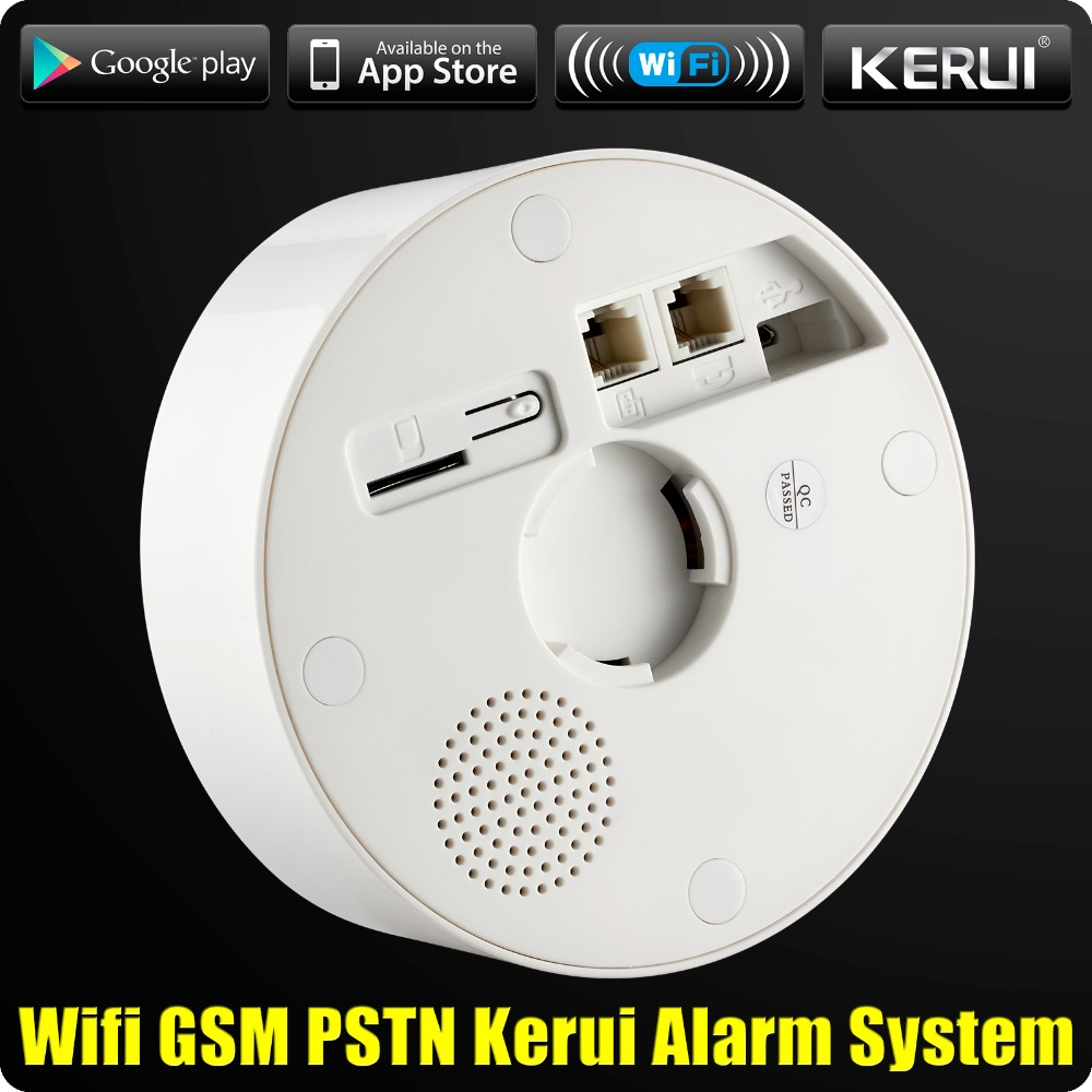 Wholesales KERUI W2 Wifi GSM PSTN Telephone Landline Home Alarm APP ISO 433MHz TFT Golor Screen RFID Disarm Arm Security Kit 1