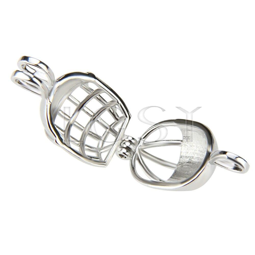 LGSY latest Silver Plated Football helmet Charming Locket Necklace Pendant Cage Pendant 5pcs