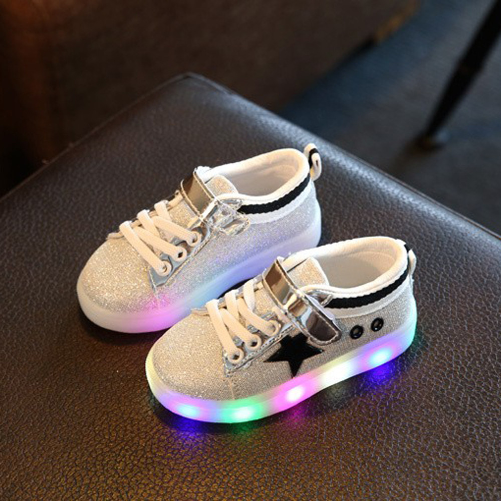 Children Lighting Shoes Luminous Flasher Sneakers Fashion Sneaker LED Luminous Star Child Toddler Casual Colorful Light Shoes