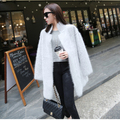 Nueva Genuino Mujer Suéter de Cachemira Visón Puro Cashmere Cardigan de Punto Chaqueta de Invierno Largo Abrigo de Piel de Visón Envío Gratis S125