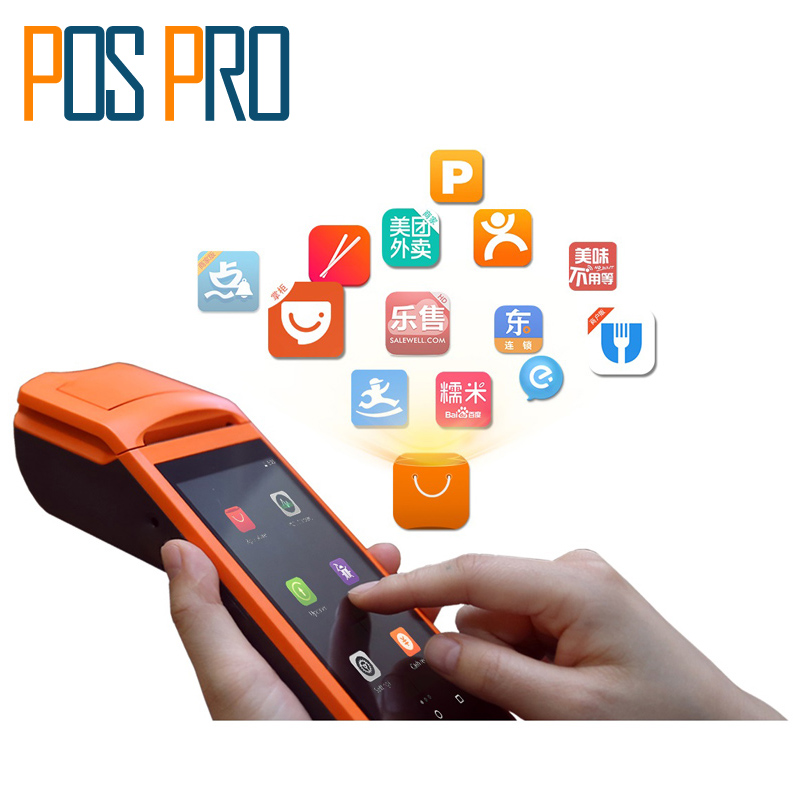 Android 5.5 Inch Touch screen POS Terminal mobile wireless 1D barcode Camera thermal printer bluetooth/wifi/PDA/3G/Android Sunmi