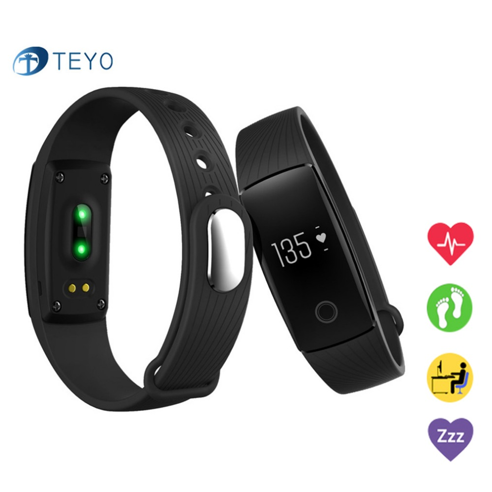 Teyo Smart Bracelet Pulse Heart Rate Monitor Fitness Tracker Smart Wristband Android IOS PK xiomi mi