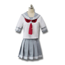 Teen Girl Cool Sailor Costume Japan JK School Student Uniform Blouse Skirt Suit Aqours Anime Love Live Short Cheerleader Costume
